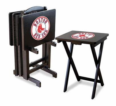 Boston Red Sox Set of 4 Folding TV Trays