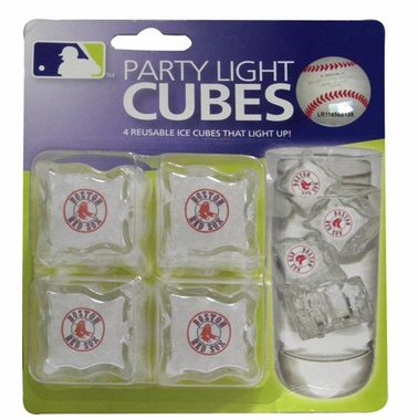 Boston Red Sox Set of 4 Light Up Ice Cubes