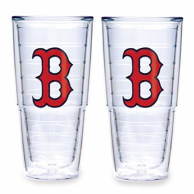 "Boston Red Sox Set of TWO 24 oz. ""Big T"" Tervis Tumblers"