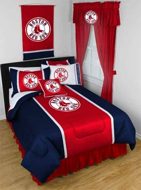 Boston Red Sox SIDELINES Jersey Material Comforter