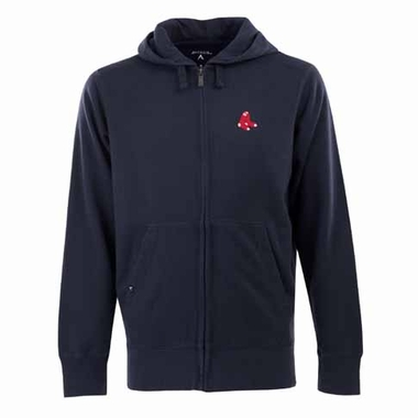 Boston Red Sox Mens Signature Full Zip Hooded Sweatshirt (Alternate Color: Navy)