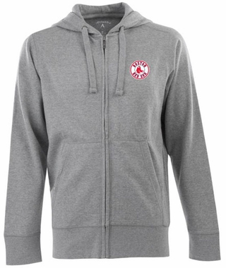 Boston Red Sox Mens Signature Full Zip Hooded Sweatshirt (Color: Gray)