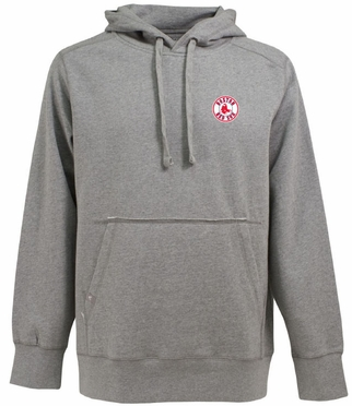 Boston Red Sox Mens Signature Hooded Sweatshirt (Color: Gray)