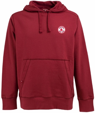 Boston Red Sox Mens Signature Hooded Sweatshirt (Color: Red)