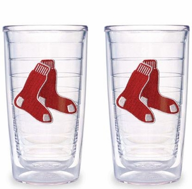Boston Red Sox (Socks) Set of TWO 16 oz. Tervis Tumblers