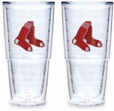 "Boston Red Sox (Socks) Set of TWO 24 oz. ""Big T"" Tervis Tumblers"
