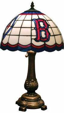 Boston Red Sox Stained Glass Table Lamp