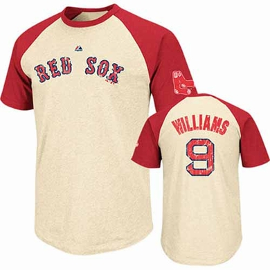 Boston Red Sox Ted Williams Cooperstown All Star Player Raglan Premium T-Shirt