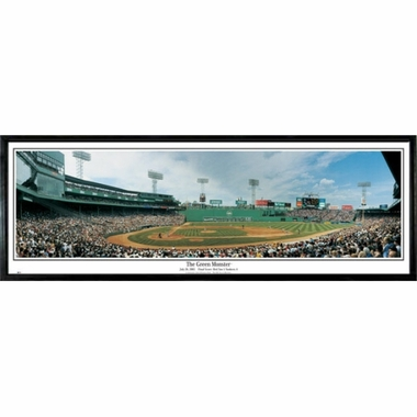 Boston Red Sox The Green Monster Framed Panoramic Print