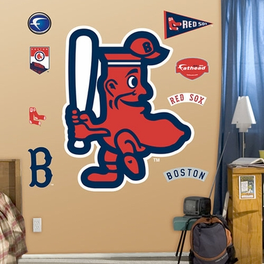 Boston Red Sox Throwback Logo Fathead Wall Graphic