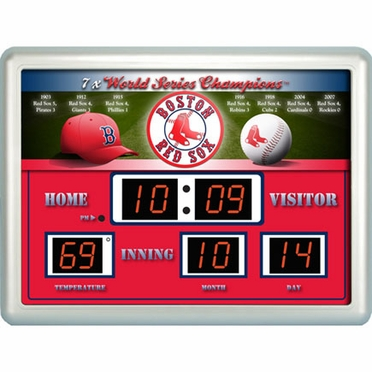 Boston Red Sox Time / Date / Temp. Scoreboard