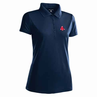 Boston Red Sox Womens Pique Xtra Lite Polo Shirt (Color: Navy)