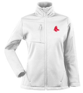 Boston Red Sox Womens Traverse Jacket (Color: White) - Small