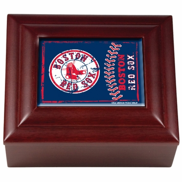 Boston Red Sox Wooden Keepsake Box