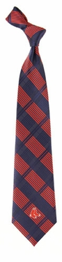 Boston Red Sox Woven Plaid Necktie