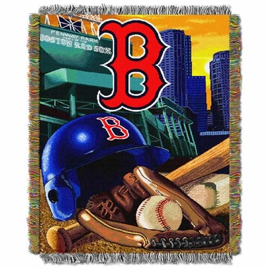 Boston Red Sox Woven Tapestry Blanket