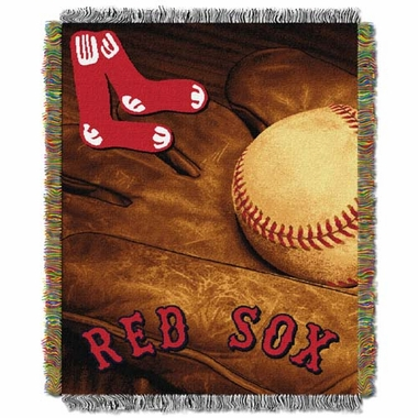 Boston Red Sox Woven Tapestry Throw Blanket