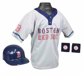 Boston Red Sox YOUTH Helmet and Jersey Set