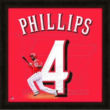 "Brandon Phillips, Reds UNIFRAME 20"" x 20"""