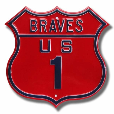 Braves / 1 Route Sign