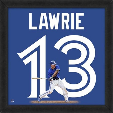 "Brett Lawrie, Blue Jays UNIFRAME 20"" x 20"""