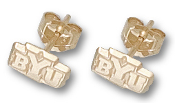 Brigham Young 10K Gold Post or Dangle Earrings