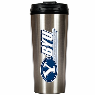 Brigham Young 16 oz. Thermo Travel Tumbler
