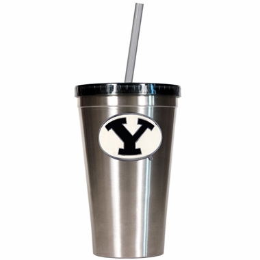 Brigham Young 16oz Stainless Steel Insulated Tumbler with Straw