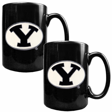 Brigham Young 2 Piece Coffee Mug Set