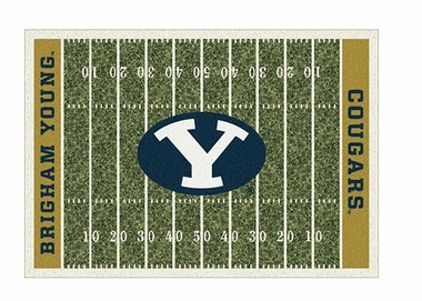 "Brigham Young 3'10"" x 5'4"" Premium Field Rug"