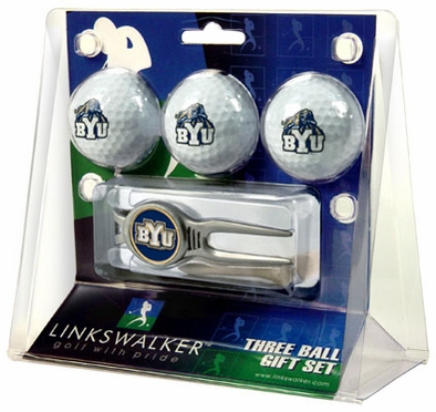 Brigham Young 3 Ball Gift Pack With Kool Tool