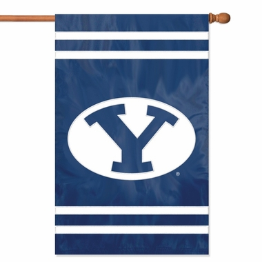 Brigham Young Applique Banner Flag
