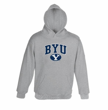 Brigham Young Athletic Grey Embroidered Hooded Sweatshirt