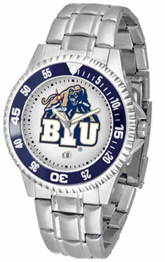 Brigham Young Competitor Men's Steel Band Watch