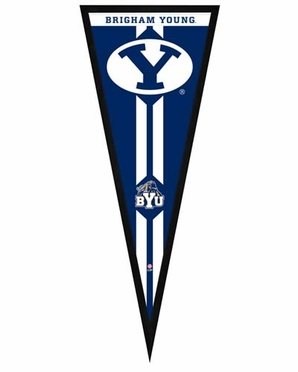 """Brigham Young Cougars Pennant Frame - 13""""x33"""" (No Glass)"""