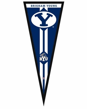 "Brigham Young Cougars Pennant Frame - 13""x33"" (No Glass)"