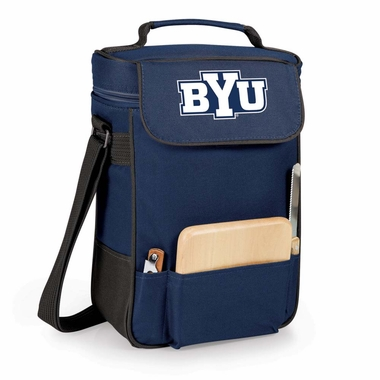 Brigham Young Duet Compact Picnic Tote (Navy)
