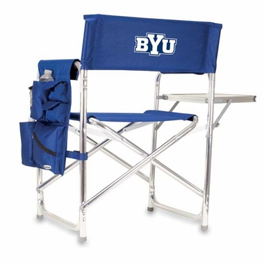 Brigham Young Embroidered Sports Chair (Navy)
