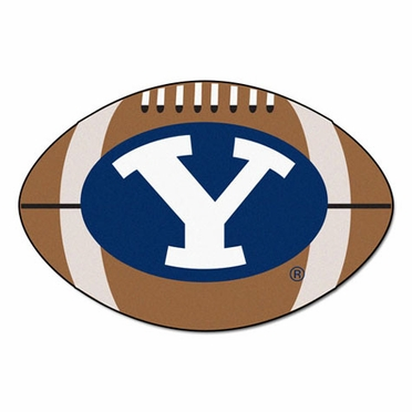 Brigham Young Football Shaped Rug