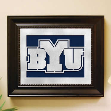 Brigham Young Framed Laser Cut Metal Wall Art