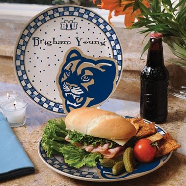 Brigham Young Gameday Ceramic Plate