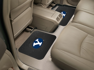 Brigham Young SET OF 2 Heavy Duty Vinyl Rear Car Mats