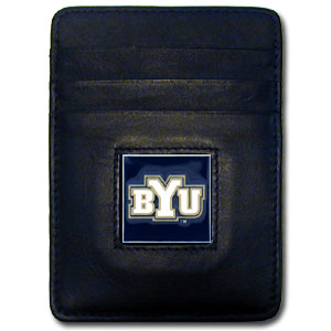 Brigham Young Leather Money Clip (F)