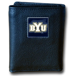 Brigham Young Leather Trifold Wallet (F)