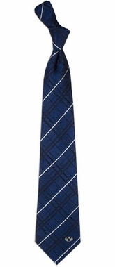 Brigham Young Oxford Stripe Woven Silk Necktie