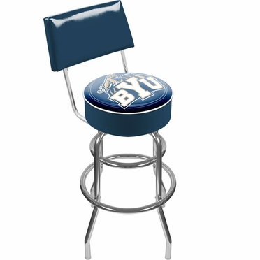 Brigham Young Padded Bar Stool with Back