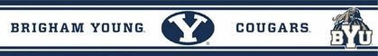 Brigham Young Peel and Stick Wallpaper Border
