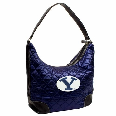 Brigham Young Quilted Hobo Purse