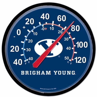 Brigham Young Round Wall Thermometer