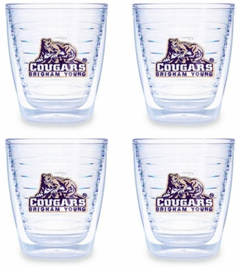 Brigham Young Set of FOUR 12 oz. Tervis Tumblers